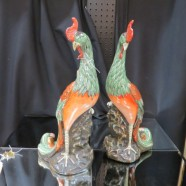 Vintage antique pair of porcelain Chinese birds – $695