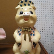 Vintage mid century modern large ceramic piggy bank – $45