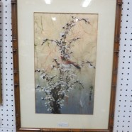 Vintage antique Chinese signed watercolor – $125
