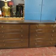Vintage mid century modern Paul Frankl walnut credenza / dresser – $2400