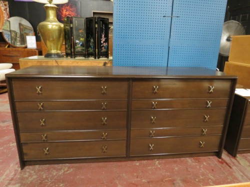 Vintage mid century modern Paul Frankl walnut double chest of drawers/credenza – $2400