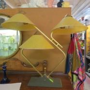 SALE! Vintage mid century modern 3 shade table lamp – $200