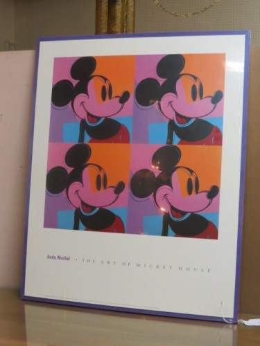 SALE! Vintage Andy Warhol lithograph of Mickey Mouse, c. 1980 – $125