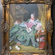 Vintage antique style oil painting of Madame Pompadour – $395