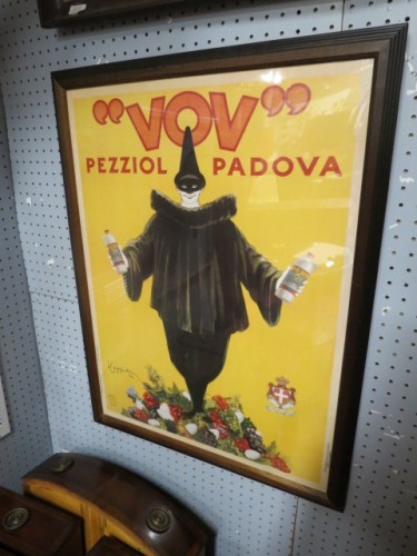 "SALE! Vintage antique ""VOV"" Italian poster, dated 1922 – $75"