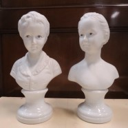 Vintage antique pair of small bisque busts – $45/pr