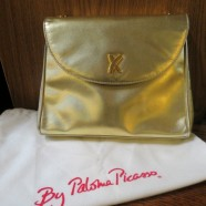 Vintage Paloma Picasso gold leather bag – $65