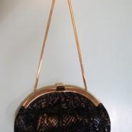 Vintage Judith Leiber snakeskin purse – $185