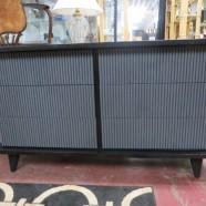 SALE! Vintage mid century modern 6 drawer credenza/dresser c. 1960 – $100