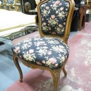 SALE! Vintage antique Louis XV French walnut desk/vanity chair c. 1920 – $75