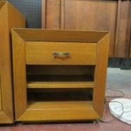 SALE!  Vintage mid century modern nightstand by Maximilian for Karp c. 1950s – $50