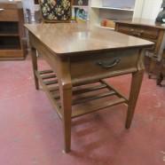 SALE! Vintage mid century modern Mersman walnut side table c. 1960 – $59