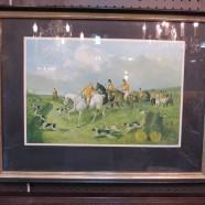 Vintage equestrian hunting print – $65