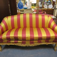SALE! Vintage antique French Louis XV style gilded sofa c. 1850 – $495
