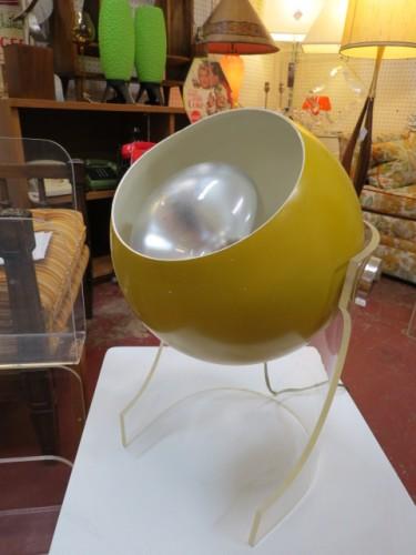 Vintage mid century modern Robert Sonneman ball lamp c. 1970 – $340