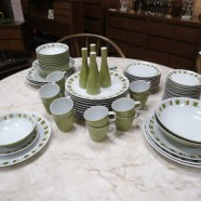 Vintage mid century modern set Mikasa South Pacific China c. 1970 – $200/set