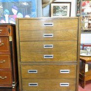 SALE! Vintage mid century modern American of Martinsville walnut chest/dresser – $275