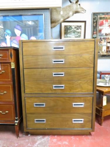 SALE! Vintage mid century modern American of Martinsville walnut chest/dresser – $275