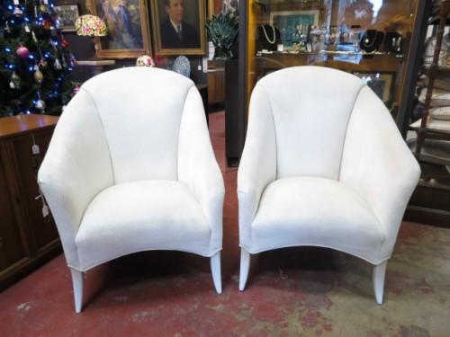 Vintage mid century modern pair of Thayer Coggin chairs c. 1980 – $695/pr