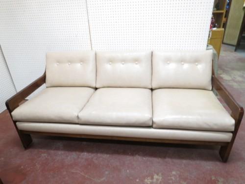 Vintage mid century modern 3 seat sofa c. 1960 – $450