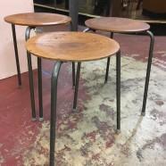 Vintage mid century modern Arne Jacobsen set of 3 dot stools c. 1960 – $195/set