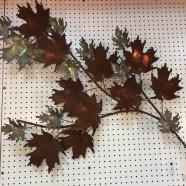 SALE! Vintage mid century modern maple leaf metal sculpture c. 1960 – $67