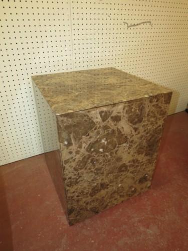 SALE! Vintage mid century modern marble cube table c. 1970 – $150