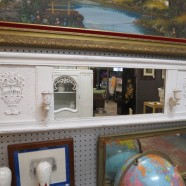 Vintage antique shabby chic horizontal mirror c. 1900 – $79