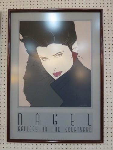 Vintage mid century modern Nagel portrait print c. 1980 – $125