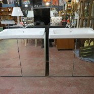 SALE! Pair of Ikea sink cabinets with faucets – $495/ea