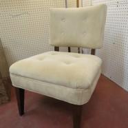 SALE! Vintage mid century modern velvet tufted occasional chair c. 1960 – $175