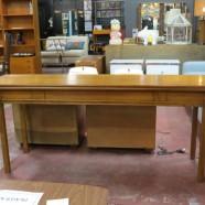 SALE! Vintage mid century modern walnut sofa table/dining table c. 1960 – $312