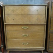 SALE! Vintage mid century modern Kent Coffey walnut chest/dresser c. 1960 – $295