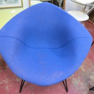 Vintage Mid-Century Modern Bertoia by Knoll covered diamond chair – $750