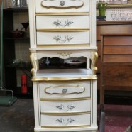 Vintage antique French style pair of nightstands – $135 each