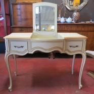 Vintage antique Drexel French style desk / vanity – $350