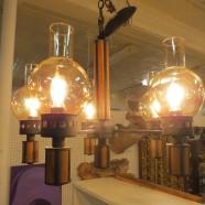 Vintage mid century modern 5 light globe chandelier – $175