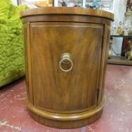 Vintage antique round Weiman fruitwood chest – $125