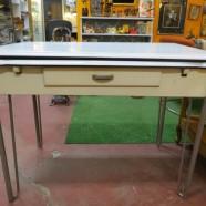 Vintage antique enamel dining table – $145