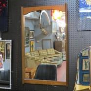 Vintage mid century modern Bassett walnut mirror – $125