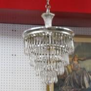 Vintage antique Art Deco 4-tier wedding cake chandelier – $295