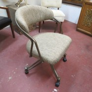 SALE! Vintage mid-century modern desk chair with wheels – $75