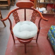 Vintage antique Rosewood Chinese corner arm chair – $150