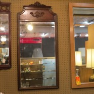 Vintage antique large mahogany mirror – $175