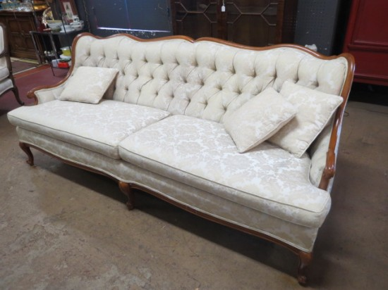 SALE!  Vintage antique Louis XV style French sofa – $350