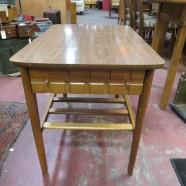 Vintage mid-century modern Mersman walnut side table – $110
