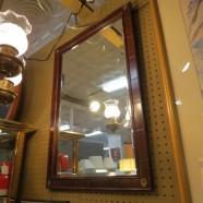 Vintage antique mahogany beveled mirror – $75