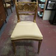 Vintage antique Maitland-Smith gold gilt desk/vanity chair – $450