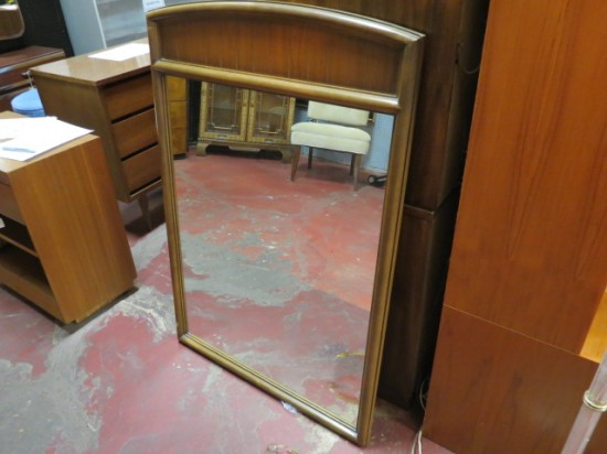 Vintage mid-century modern large Lane walnut mirror – $125