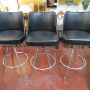 Vintage mid-century modern set 3 chrome bar stools – $150 set